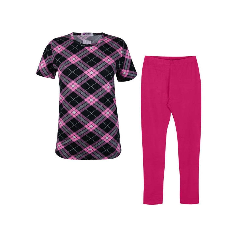 ست تی شرت و شلوار نخی زنانه کوزا مدل 3575-4-P