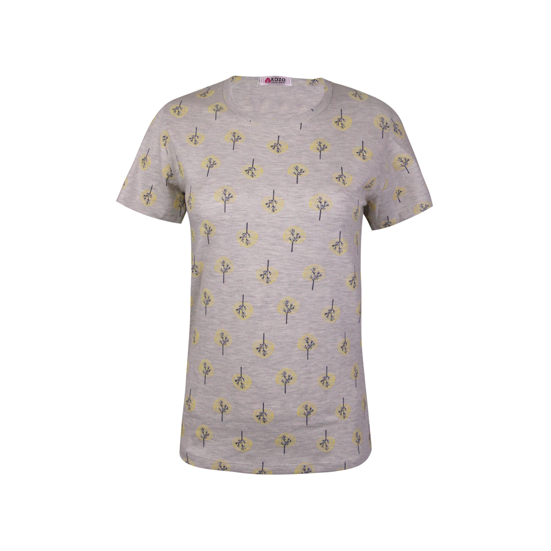 ست تی شرت و شلوار نخی زنانه کوزا مدل 3575-2-Y