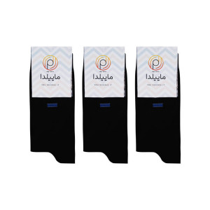 جوراب نخی مردانه ماییلدا کد 3417-120-2 بسته 3 عددی