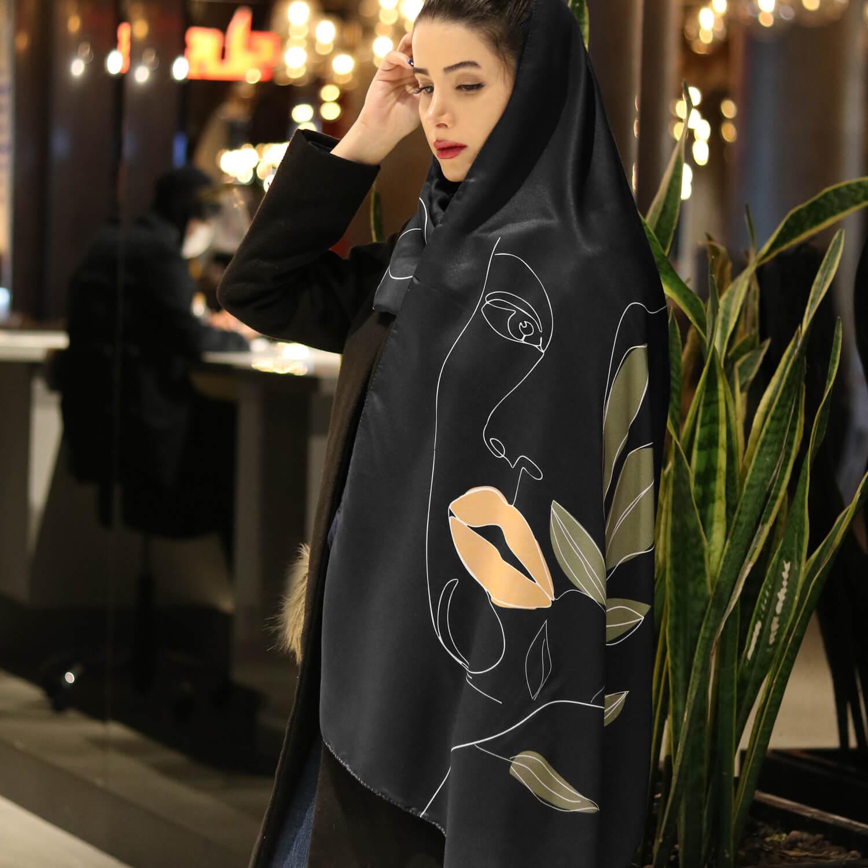 شال نخی زنانه کد 218