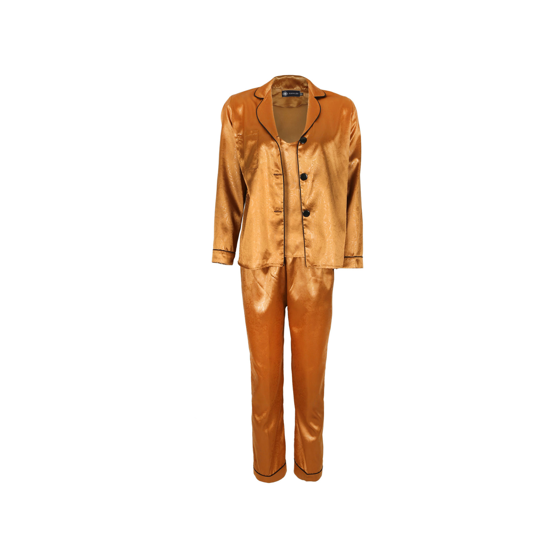 ست لباس خواب ساتن زنانه ناوالس کد SS2020-PJM105-Lbw