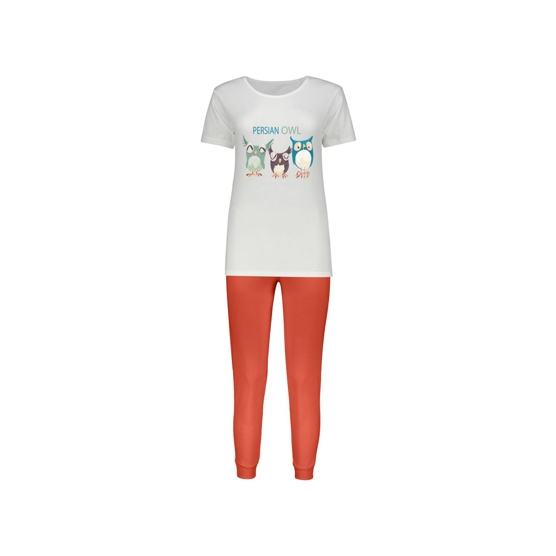 ست تی شرت و شلوار پنبه ای زنانه کد 015