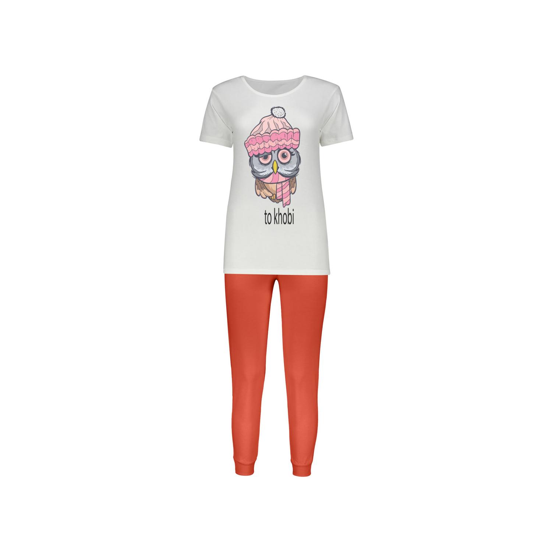 ست تی شرت و شلوار پنبه ای زنانه کد 016