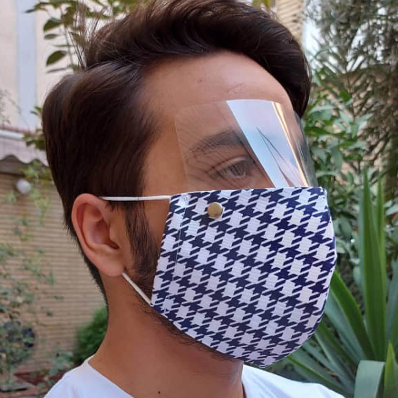 ماسک سه لایه پارچه ای با شیلد جدا شونده کد 109