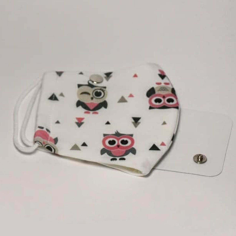 ماسک سه لایه پارچه ای سایز کودک با شیلد جدا شونده کد 604