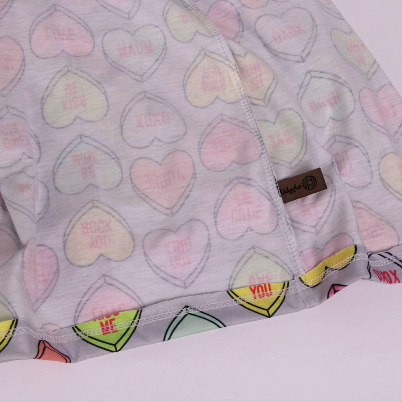 ست تی شرت و شلوارک نخی زنانه ماییلدا مدل 3586-11