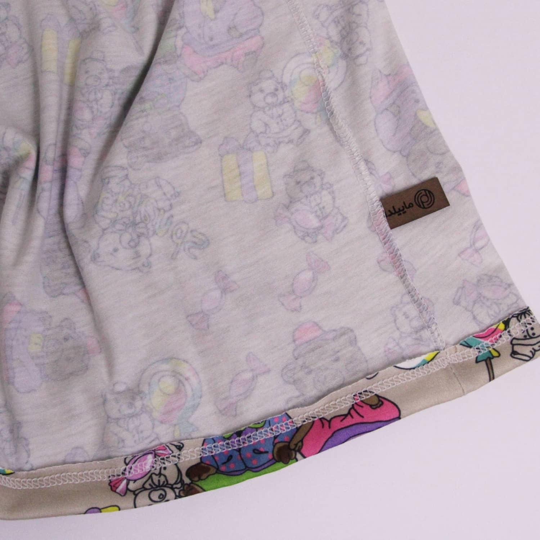 ست تی شرت و شلوارک نخی زنانه ماییلدا مدل 3586-4