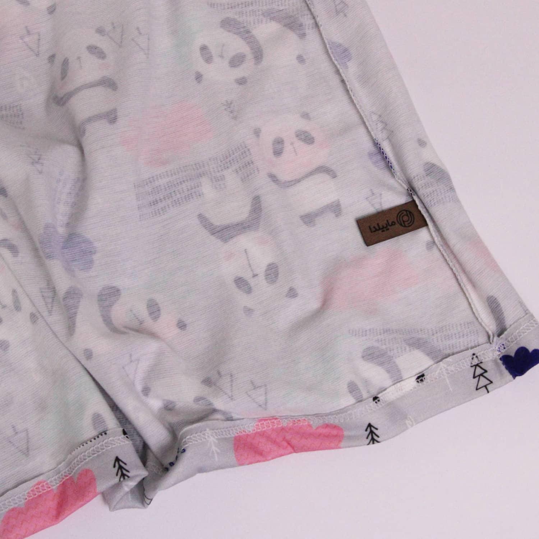 ست تی شرت و شلوارک نخی زنانه ماییلدا مدل 3586-1