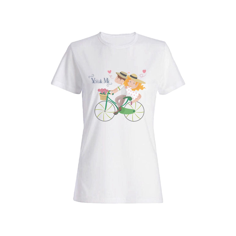 تی شرت نخی زنانه طرح دوچرخه کد IMG_2569