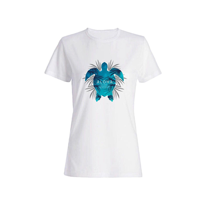 تی شرت نخی زنانه طرح لاکپشت کد a125