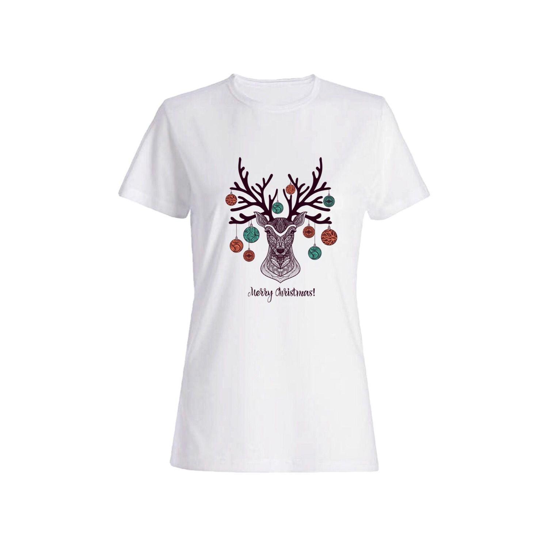 تی شرت نخی زنانه طرح گوزن کد a110