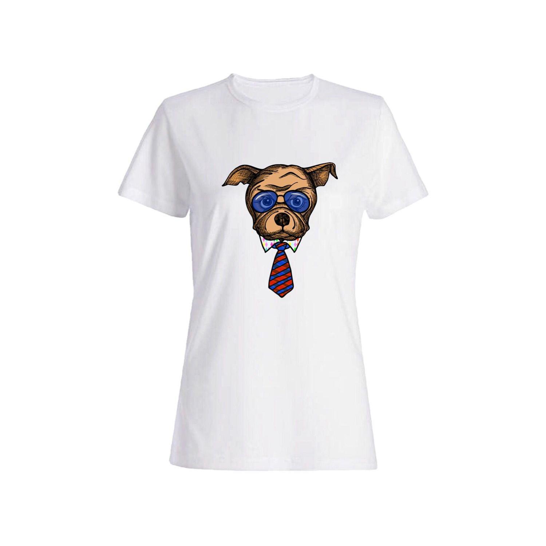 تی شرت نخی زنانه طرح سگ کد a104