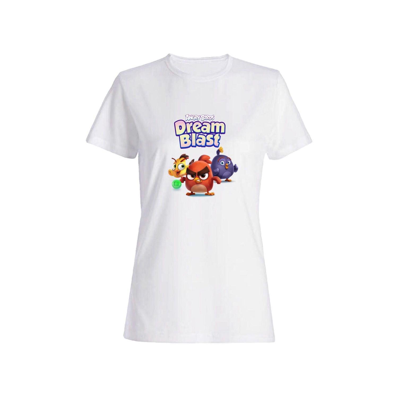 تی شرت نخی زنانه طرح انگری برد کد 474400