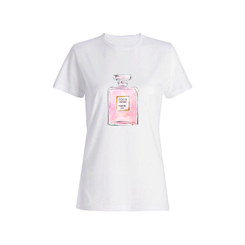 تی شرت نخی زنانه طرح عطر کد 4725