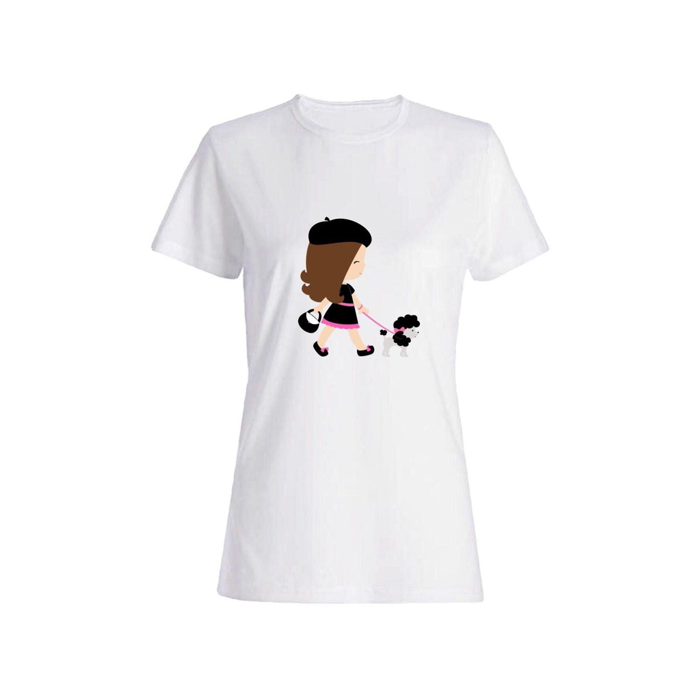 تی شرت نخی زنانه طرح سگ کد 4724