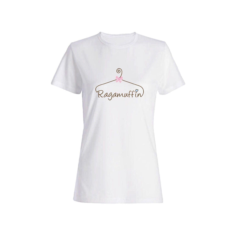 تی شرت نخی زنانه طرح چوب لباسی کد 4598