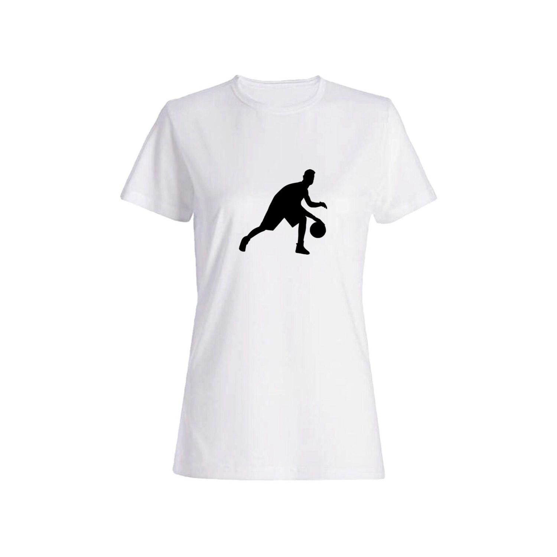 تی شرت نخی زنانه طرح بسکتبال کد 5868