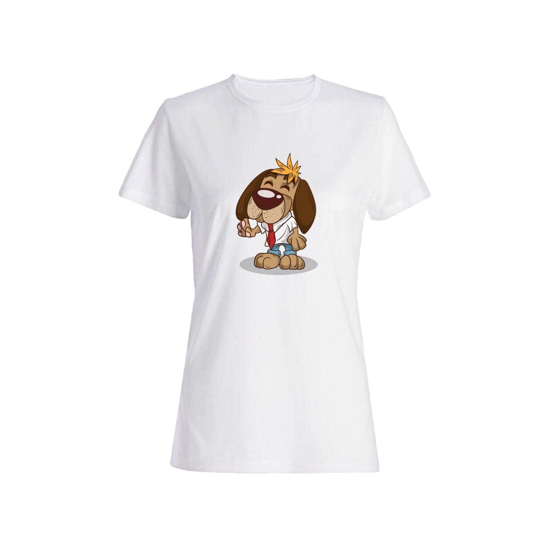 تی شرت نخی زنانه طرح سگ کد 5849