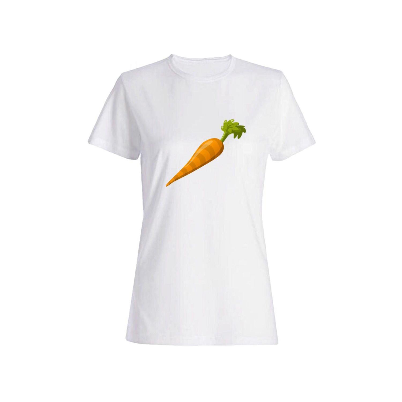 تی شرت نخی زنانه طرح هویج کد 5841