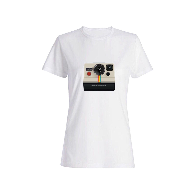 تی شرت نخی زنانه طرح دوربین کد 5840