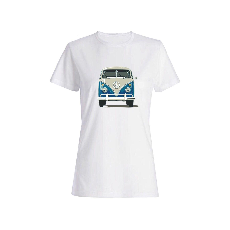 تی شرت نخی زنانه طرح ماشین کد 5839