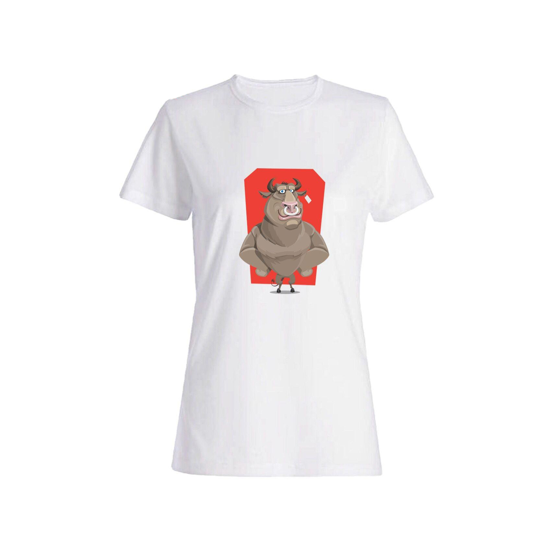 تی شرت نخی زنانه طرح سگ کد 5838
