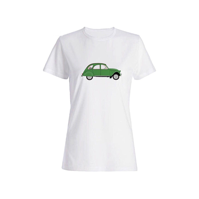 تی شرت نخی زنانه طرح ماشین کد 5833