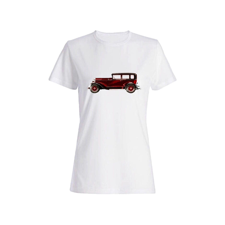تی شرت نخی زنانه طرح ماشین کد 5871