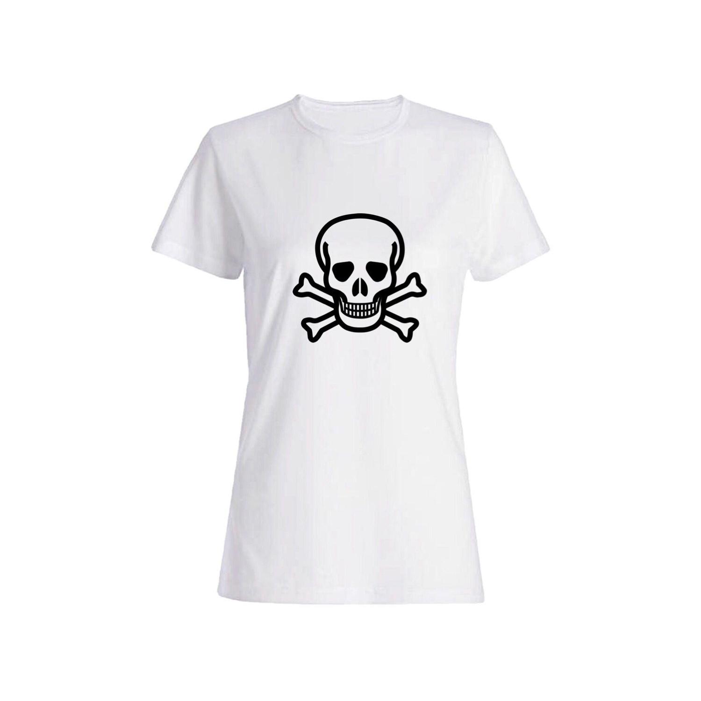 تی شرت نخی زنانه طرح اسکلت کد 5846
