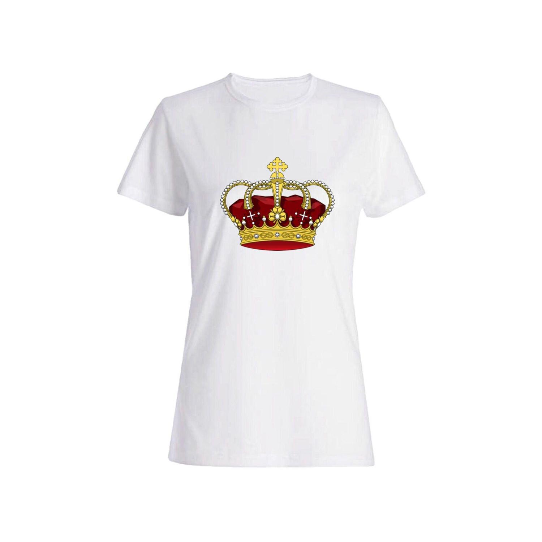 تی شرت نخی زنانه طرح تاج کد 5633