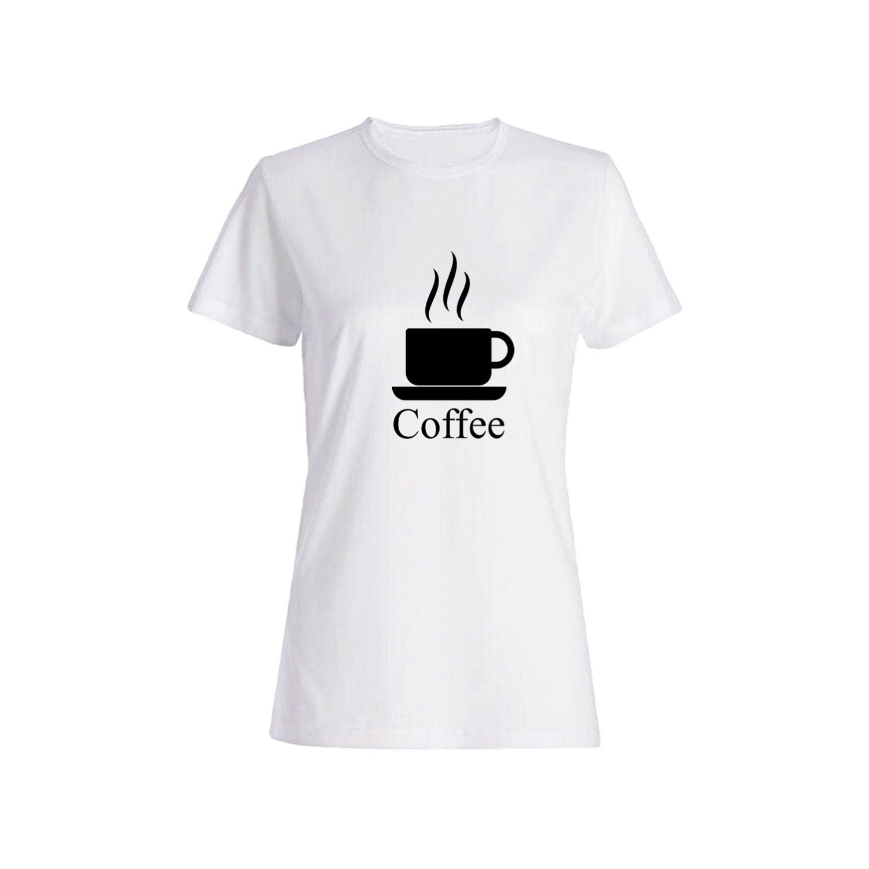 تی شرت نخی زنانه طرح Coffe کد 5630