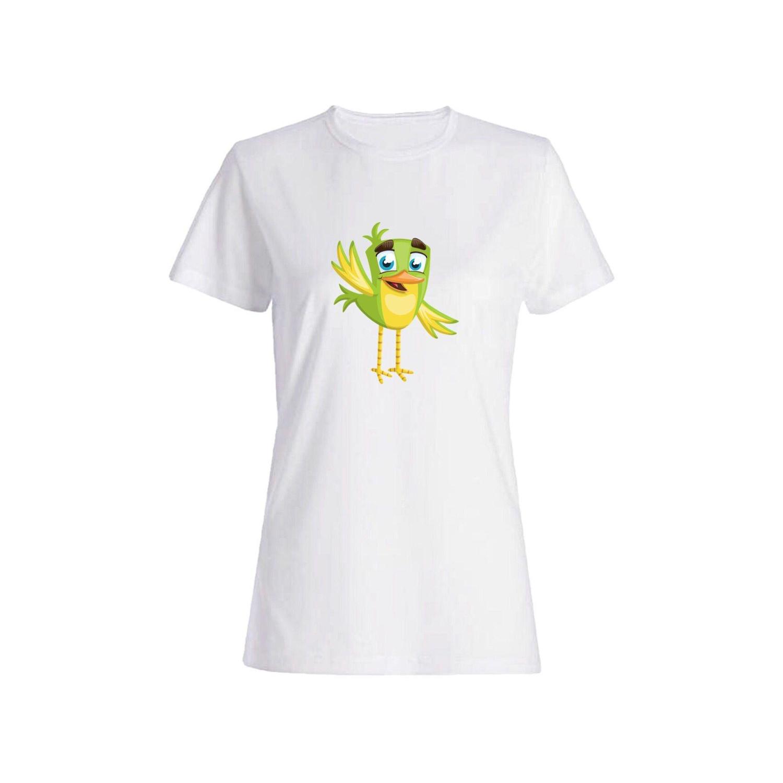 تی شرت نخی زنانه طرح گنجشک کد 5625