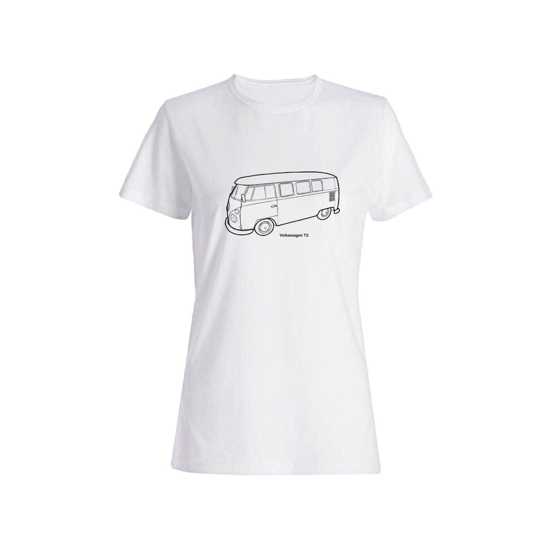 تی شرت نخی زنانه طرح ماشین کد 5873