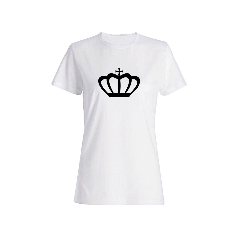 تی شرت نخی زنانه طرح تاج کد 5323