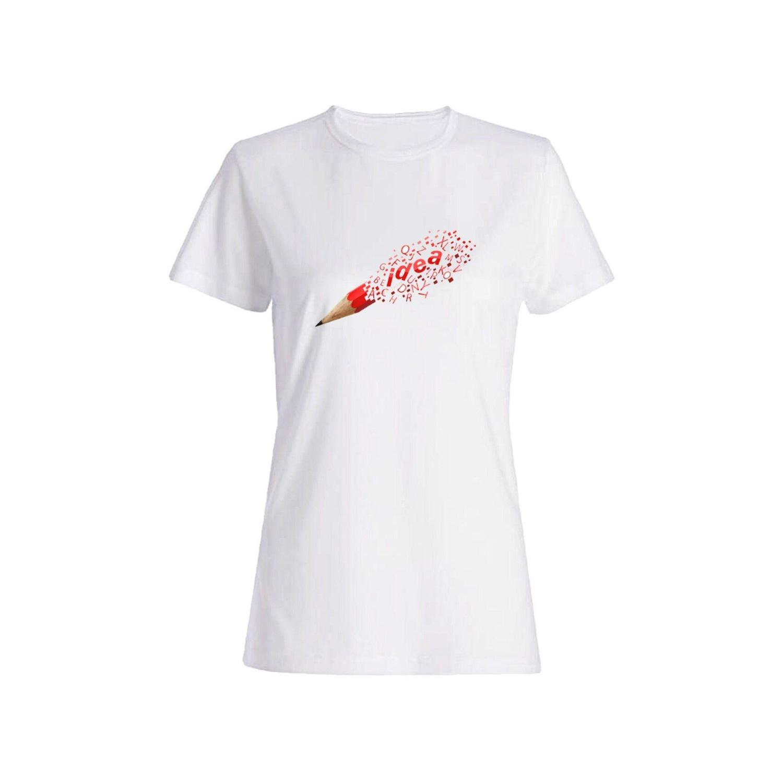 تی شرت نخی زنانه طرح مداد کد 4482