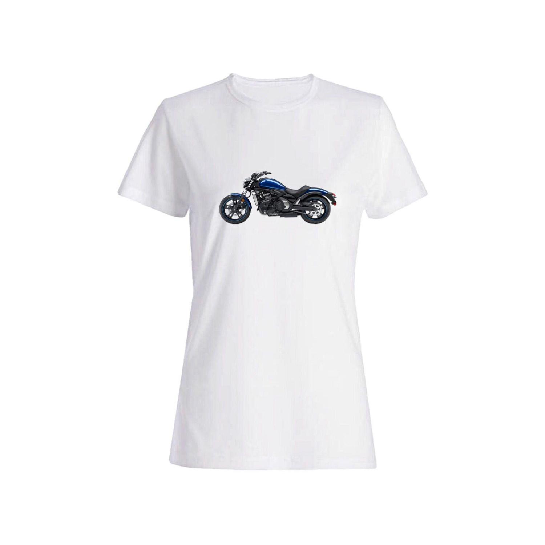 تی شرت نخی زنانه طرح موتور کد 4477