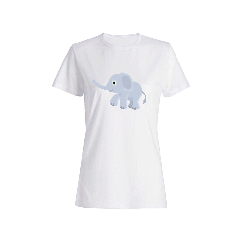 تی شرت نخی زنانه طرح فیل کد 4470