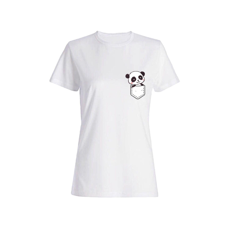 تی شرت نخی زنانه طرح پاندا کد 4424