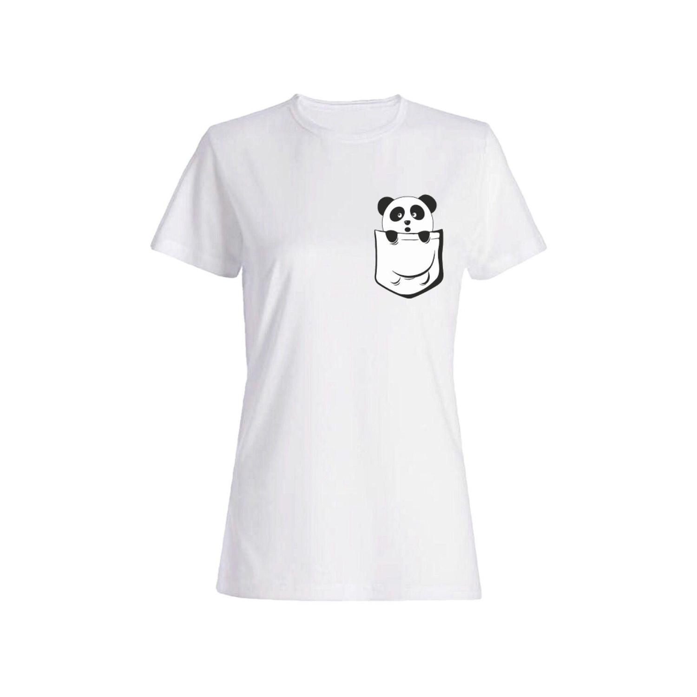 تی شرت نخی زنانه طرح پاندا کد 4422