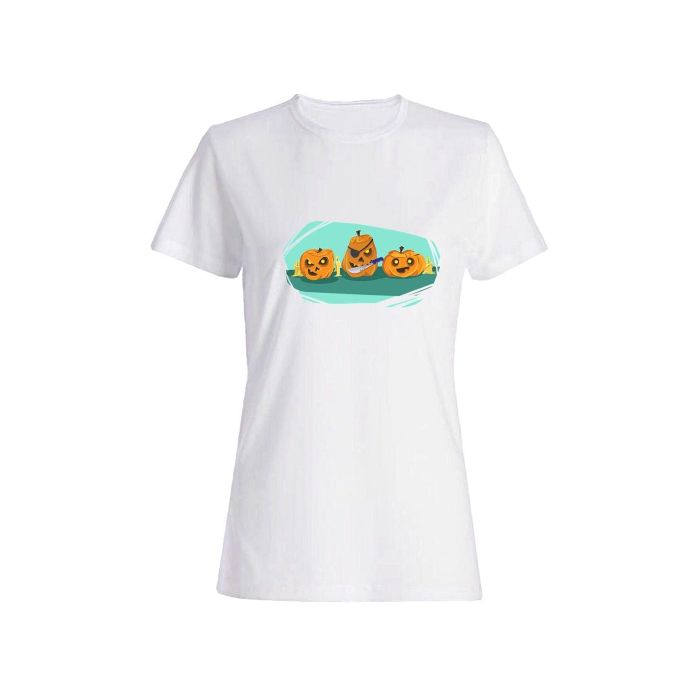 تی شرت نخی زنانه طرح کدو کد 4376