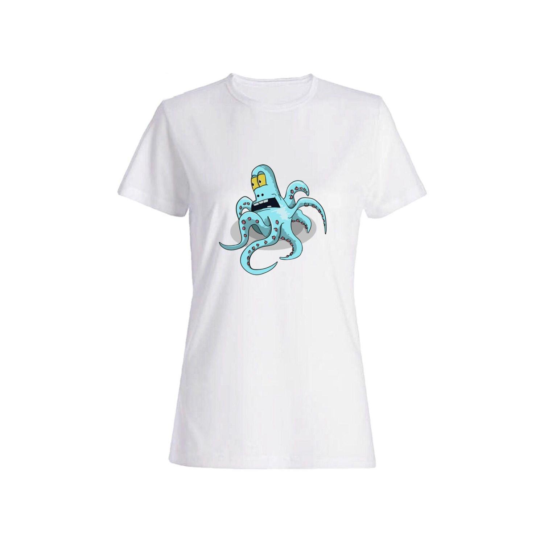 تی شرت نخی زنانه طرح هشت پا کد 4372