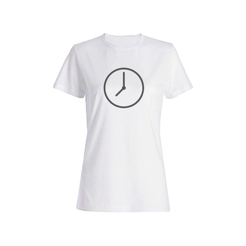 تی شرت نخی زنانه طرح ساعت کد 4366