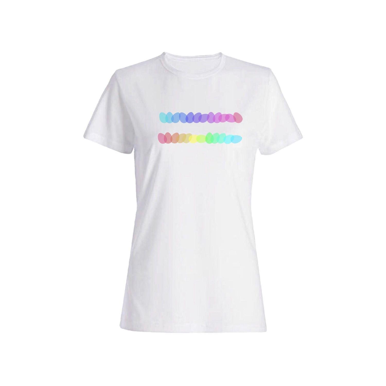 تی شرت نخی زنانه طرح تخم مرغ رنگی کد 4364