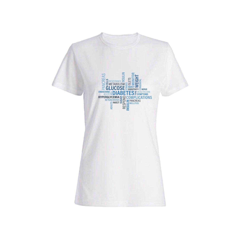 تی شرت نخی زنانه طرح انگلیسی کد 4362