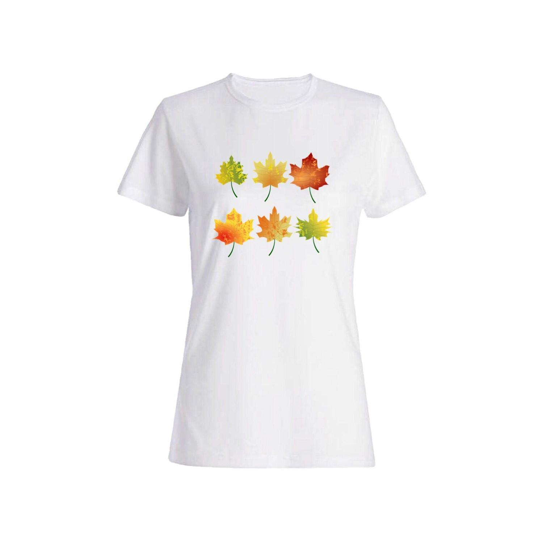 تی شرت نخی زنانه طرح برگ کد 4352