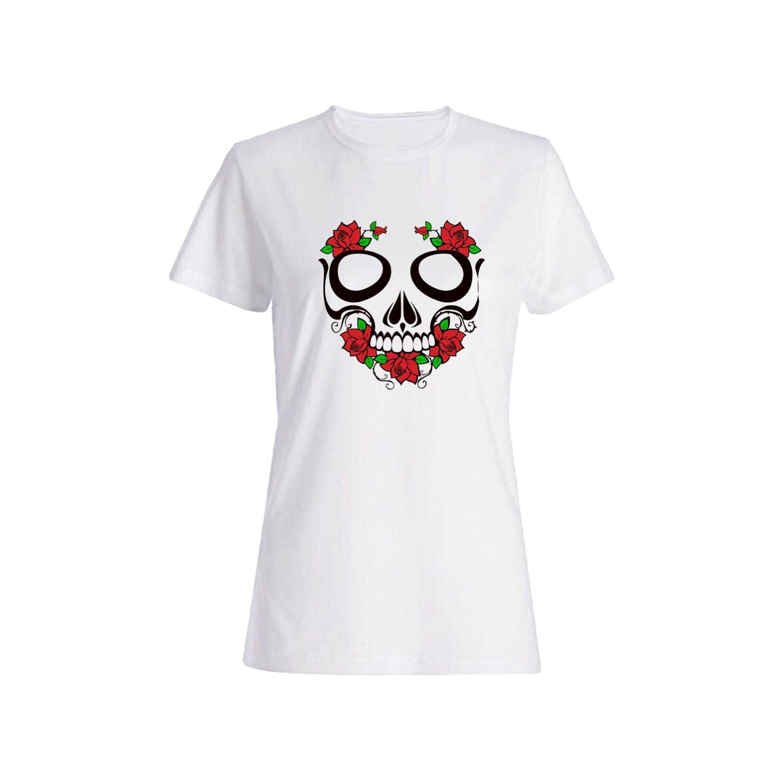 تی شرت نخی زنانه طرح اسکلت کد 4351