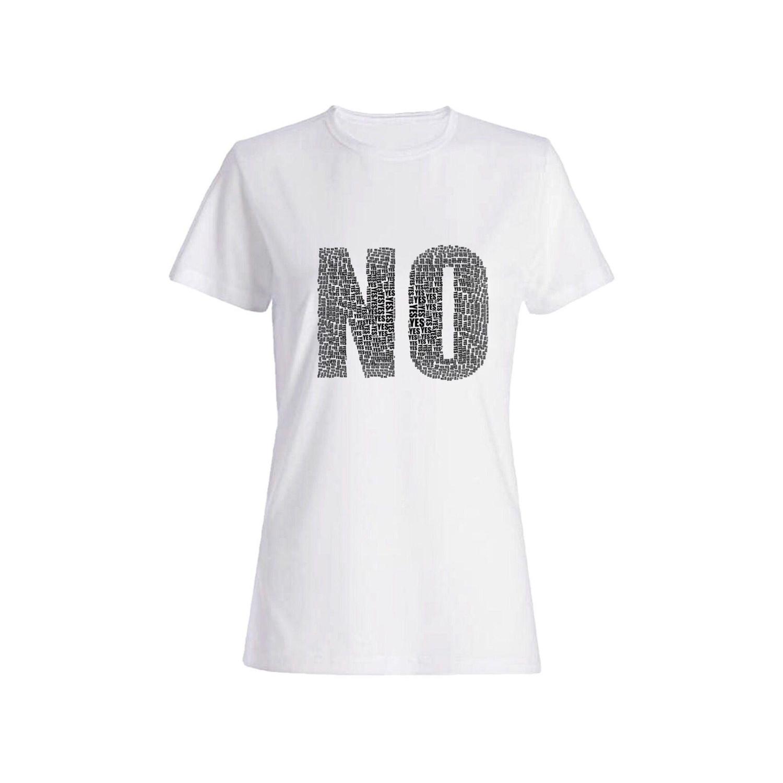 تی شرت نخی زنانه طرح No کد 3920