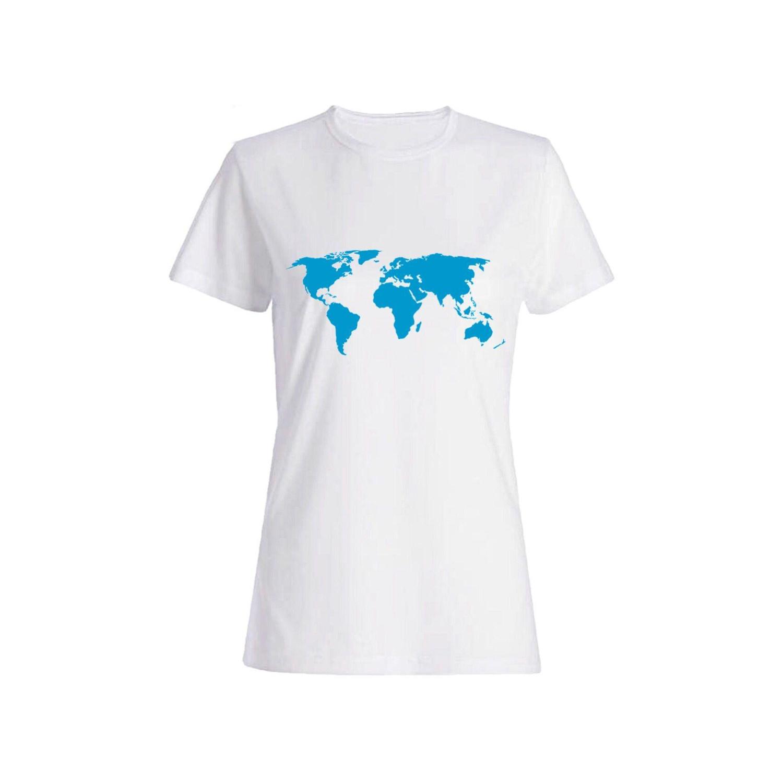 تی شرت نخی زنانه طرح جهان کد 3919