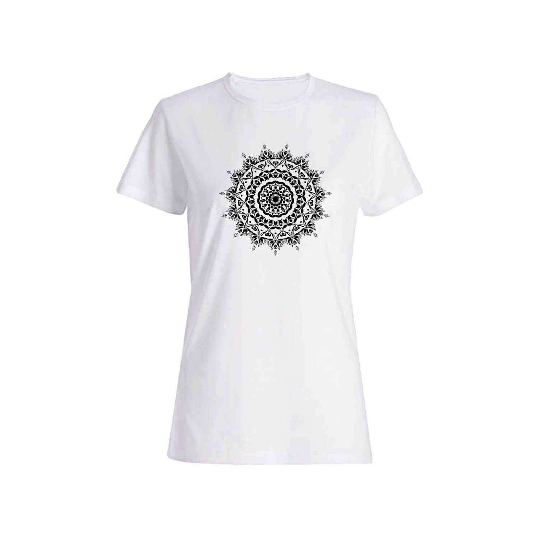 تی شرت نخی زنانه طرح هندسه کد 3915