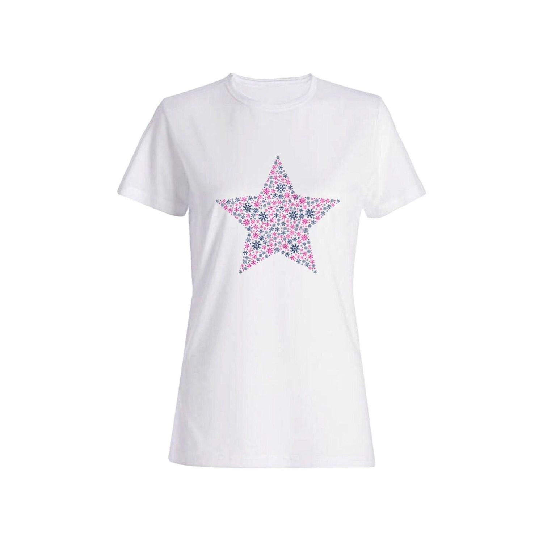 تی شرت نخی زنانه طرح ستاره کد 3907